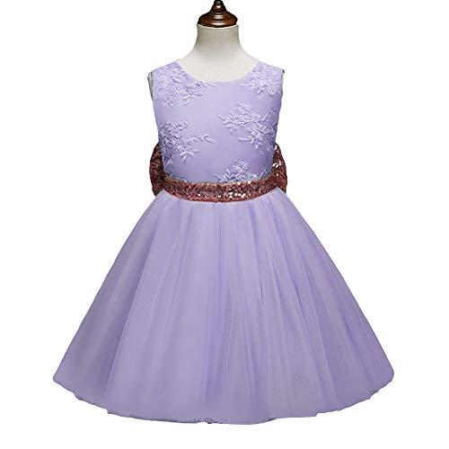 Vimbhzlvigour Baby Mädchen (0-24 Monate) Kleid violett violett 120 cm