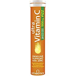 Vitabiotics Ultra Vitamin C With Zinc Effervescent 20 Tabs, 59 g