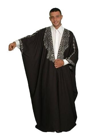 Kaftan-Umhang Einheitsgröße: S bis 5XL , schwarz (Arabischen Tracht)