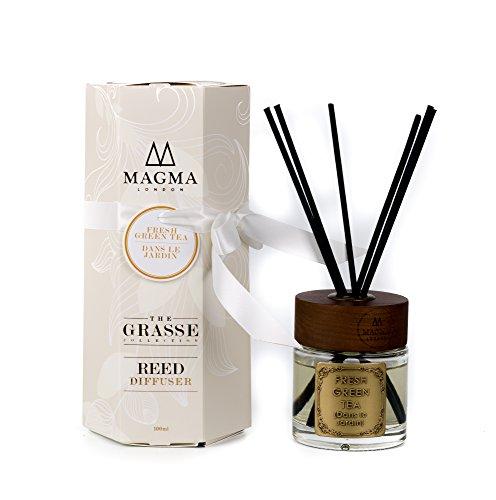 Magma London - Fresh Green Tea - Luxury Reed Diffuser - 100 ml Deluxe Box Geschenkset - Tee-reed-diffuser-Öl