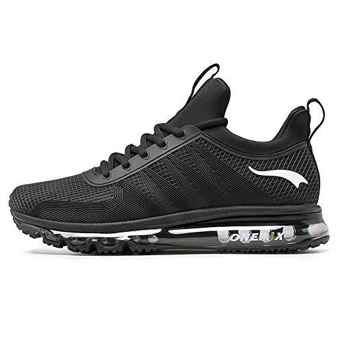 ONEMIX Air Uomo Scarpe da Corsa Sportive Basse Running Sport Sneaker Nero 44