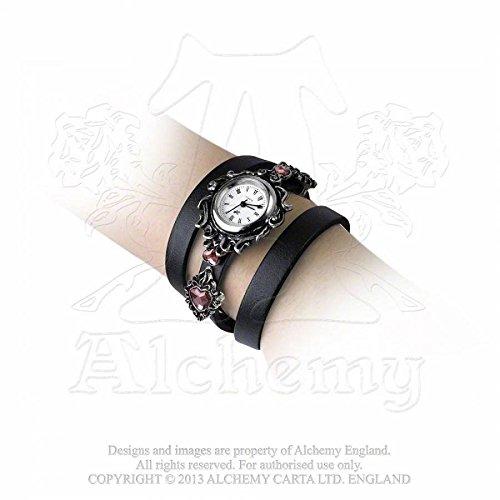 Alchemy Gothic AW24 - Orologio da polso, cinturino in acciaio inox colore argento