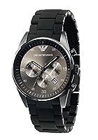 Emporio Armani AR5889Hombres del cuarzo negro deporte silicona reloj cronógrafo de acero inoxidable de RTH Sales
