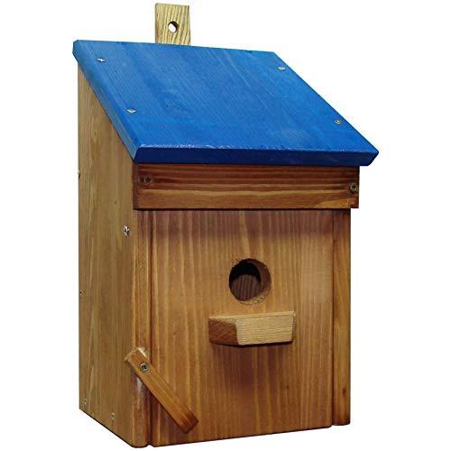 Vogelnestkisten, Holz, traditionell geformt, Holz, blau, Standard - Standard-traditionellen Holz