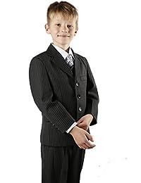 Boys Suit Black Pinstripe Jasper 1-13y