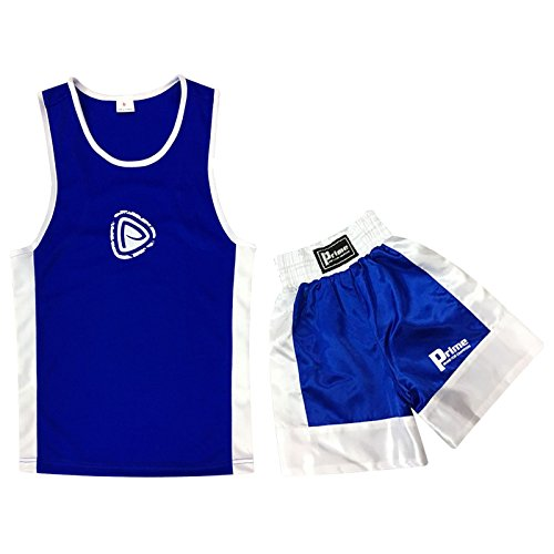 Kinder Boxuniform 2 Teile Set Top + Shorts Blau 11 - 12 Jahre