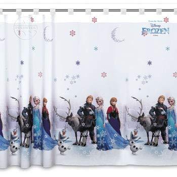 Licenza ufficiale cartoon–tenda con passanti in voile, frozen 3–75cm larghezza x 163cm goccia