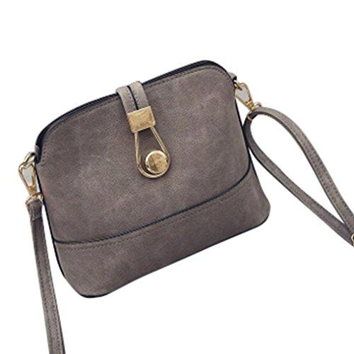 Le donne adattano il retro opaco spalla della borsa Grande borsa Tote signore,Fami (grigio)