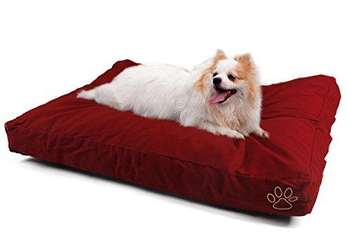 Speedy Pet Housse de coussin pour chien ou chat couverture pour tapis ou matelas pour animaux de compagnie avec 2 tailles et 6 styles DIY vous memes , le remplissage dépend de vous ?( Color : Red Cotton, Size : XL 120*74cm )