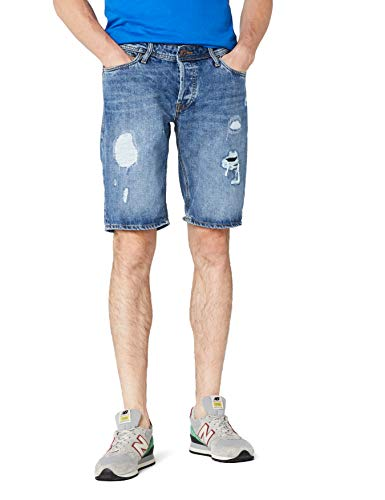JACK & JONES Herren JJIRICK JJORIGINAL 105 STS Shorts, Blau (Blue Denim), 50 (Herstellergröße: M) -