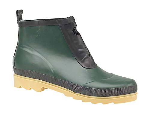 Cotswold Ladies Wye Zip Rubber Welly Wellington Ankle Boot Green Green
