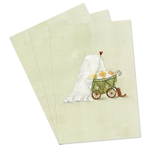3er Set Glückwunschkarten zur Geburt von Baby mit Umschlag, Glückwunschkarte, Karte zur Geburt,...