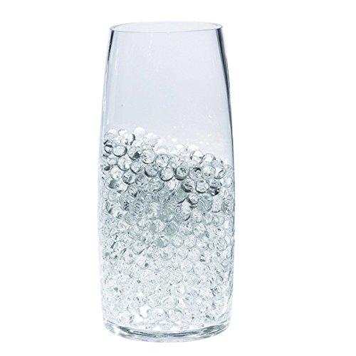 EXQUILEG Kristall-Wasser Gel Perlen,Vase Füllstoff Perlen Edelsteine Wasser Gel Perlen Wachsende Kristall Perlen Vasen Dekoration(Transparent)
