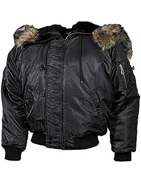 Polar Chaqueta de invierno negro Forro grueso negro