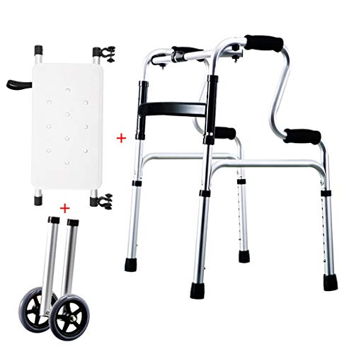 LHNLY-Andadores Estándares Andador Plegable Asiento