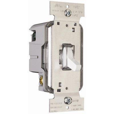 Legrand TradeMaster 600W Lighted Single Pole Toggle Dimmer in White by Legrand (Toggle Dimmer)