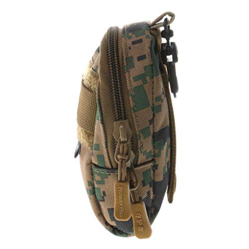 Sharplace Portatile Molle Tattico Sacchetto Militare Marsupio Adatto Per Caccia Viaggio Trekking Accesorio Sportivo - Nero camo digitale Jungle