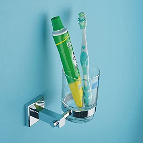 QUEEN'S Vetro Vetro rame titolari dello spazzolino da denti di accessori per il bagno - Coccinella Specchio