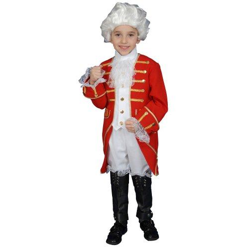 Dress up America Kostümset viktorianischer Junge - Größe L 12-14 (Kolonialzeit Perücken In Der)