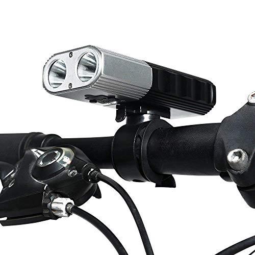 MUTANG USB Wiederaufladbare Fahrrad Licht Set 2x700 Lumen Fahrradbeleuchtung Fahrrad Scheinwerfer Vorne Lampe Mountainbike Licht Radfahren Licht Led Fahrrad Licht Wasserdicht IP65