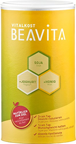 BEAVITA Vitalkost Vanille - 1 x 500g Vanille Pulver - Starte Deine Schlank-Diät - Mit den leckeren Beavita Abnehm-Shakes unbeschwert zu Deinem Wohlfühl-Gewicht (Diät-süße)