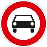 Verkehrszeichen VZ251, Verbot für Kraftwagen und sonstige ..., Alu, RA1, Ø 42cm Verkehrsschild