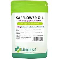 Olio di cartamo 50% CLA 300mg 3 PACCO 300 capsule Acido Linoleico Coniugato
