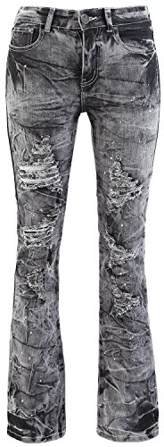 Rock Rebel by EMP Grace Acid (Boot-Cut) Jeans donna grigio W28L32