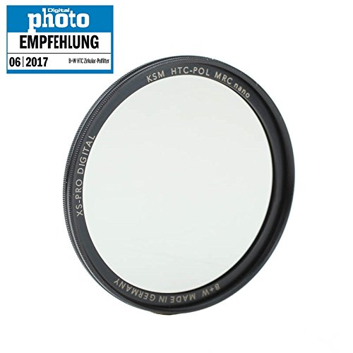 B+W HTC High Transmission Zirkular-Polfilter (Polarisationsfilter, CPL-Filter) nach Käsemann 55mm mit MRC nano Mehrschichtvergütung und XS-Pro Slim-Fassung - Made in Germany by Schneider Kreuznach