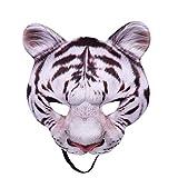 UOMOGO Maschera Tigre Animale Uomo mezza faccia Halloween Mardi Gras Ragazza per feste in costume Spettacolo teatrale Donna