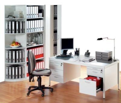 SEQUENZ Büro-Regal - 4 Fachböden, Breite 795 mm - lichtgrau - Aktenregal Akteregale Büroregal Ordnerregal SEQUENZ SEQUENZ Büromöbelprogramm FERRO Büromöbelprogramm
