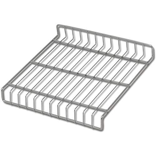 Gedotec Schuhrost Metall Schuhablage für den Schrank | Breite: 759 mm | Tiefe: 280 mm | Stahl silber RAL 9006 | 1 Stück - Schuhgitter mit Clips