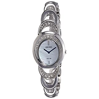 Seiko Solar Analog Mother of Pearl Dial Women's Watch-SUP295P1