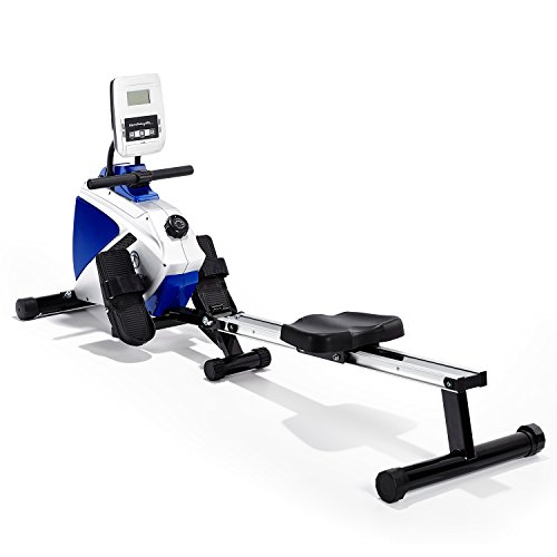 Marcy-Azure-RE1016-Magnetic-Rowing-Machine-BlackWhiteBlue-One-Size