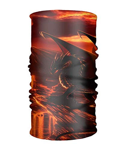 Vidmkeo Bandeau Unisex Fantasy Creature Quick Dry Microfiber Headwear Outdoor Magic Bandana Neck Gaiter Head Wrap Headband Scarf Face Mask Ultra Soft Elastic Handscarf Design2