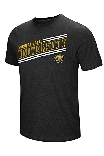 Colosseum Herren NCAA Fly Ball Short Sleeve Tee, Viele Colleges erhältlich, Herren, Wichita State University Shockers, X-Large