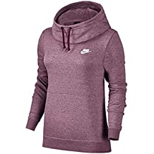 Nike Sportsware Funnel-Neck FLC Sudadera, Mujer, Morado (Plum Dust/Heather