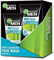 Garnier Men Oil Clear Clay D-Tox Deep Cleansing Icy Face Wash, 100g (Pack of 2)