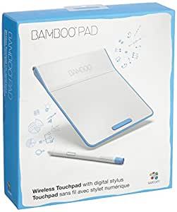 Wacom Bamboo Pad CTH300U Wireless Touchpad with stylus Pearl (White/Blue)
