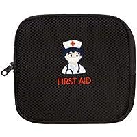 Kleine Krankenschwester Stickerei Erste Hilfe Portable Medizin Tasche, Schwarz preisvergleich bei billige-tabletten.eu