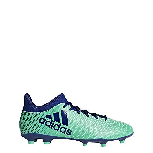 adidas Fußballschuh X 17.3FG Ground Stollen Fußball Stiefel Erwachsener 39.3(Hartböden, Erwachsener, männlich, Sohle, Bedruckt, mit Dübel, Blau, Grün)