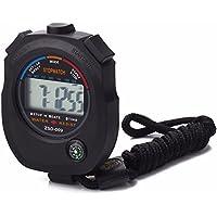 amoyl Digital Sport Stoppuhr Timer, wasserdicht digital Chronograph-Marke Sport Herren Alarm Uhren mit großem LCD-Display für Schwimmen, Laufen, Kugeln, etc., Schwarz
