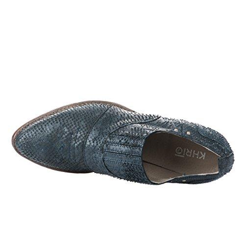 a7611bb32ef20 Boots femme KHRIO Bleu 2821 Millim Bleu Shopping Vente France ...