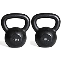 Comparador de precios IQI - Juego de pesas rusas (2 unidades, 16 k cada una), color negro - precios baratos