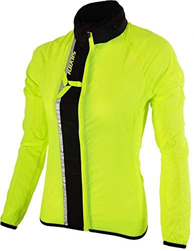 SILVINI Damen GELA Jacke Aus Dem Extrem Leichtem Und Winddichtem Material, Neon-Black, S Neon Windbreaker