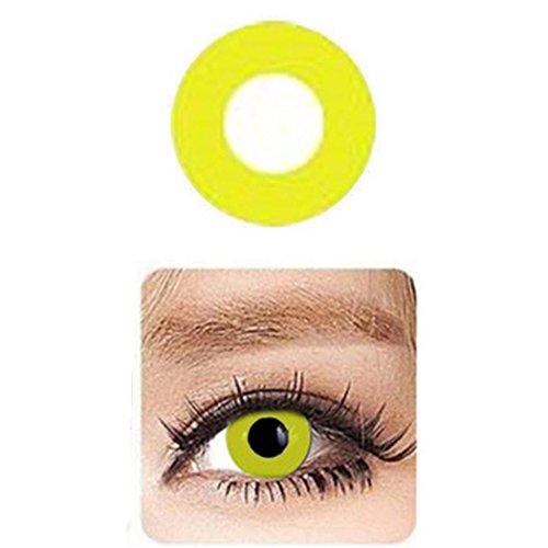 Ncient Una Pieza Lentilla Colore Lente de Suave Multicolo para Gran Diámetro Hermosos Ojos 0 Grados Cosplay Maquillaje,Pieza única