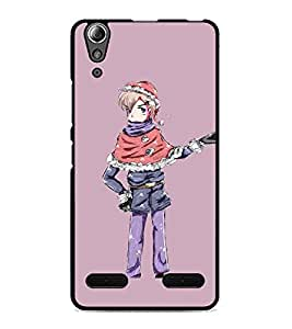 PrintDhaba Funny Image D-3970 Back Case Cover for LENOVO A6000 (Multi-Coloured)