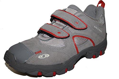 Salomon chaussures de sport 278431 chaussures mixte enfant - Grau (pewter/mid grey/bright red)
