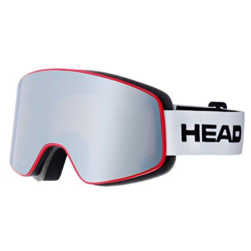Head Horizon Fire-Occhiali da sci a maschera, colore: bianco/rosso