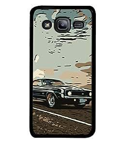 Snapdilla Designer Back Case Cover for Samsung Galaxy J2 J200G (2015) :: Samsung Galaxy J2 Duos (2015) :: Samsung Galaxy J2 J200F J200Y J200H J200Gu (Travel Classic Shiny Chrome Antique Picture)